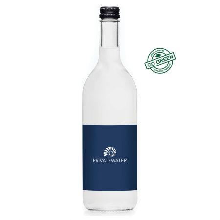 Vand med logo - eksklusiv glasflaske