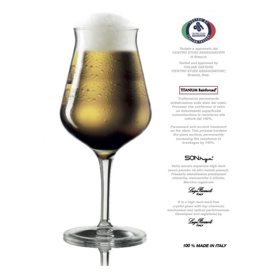 37e9be32d3f Special ølglas 42 cl - 6 stk. - designet af Luigi Bormioli