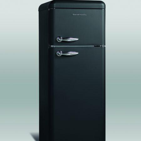 Retro køle/fryseskab mat sort