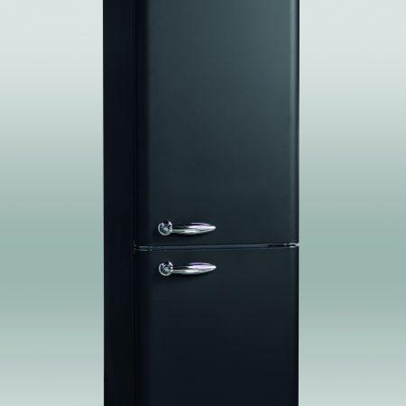 Retro køle/fryseskab mat sort RKB 301