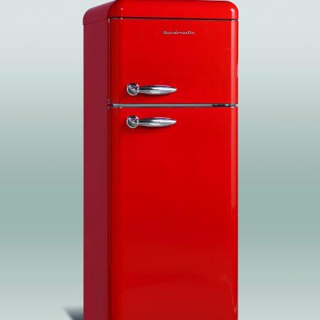 Retro køle/fryseskab Ferrari røde
